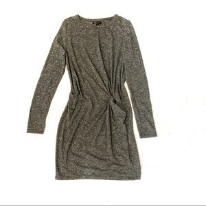 TopShop knit dress fitted side twist knot front